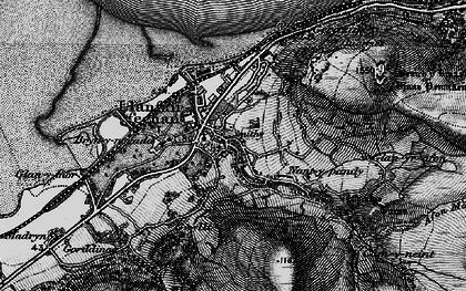 Old map of Llanfairfechan in 1899