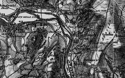 Old map of Aberedw Hill in 1898