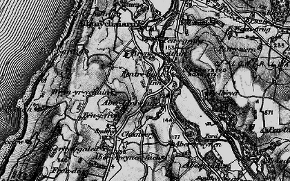 Old map of Aberllolwyn in 1899