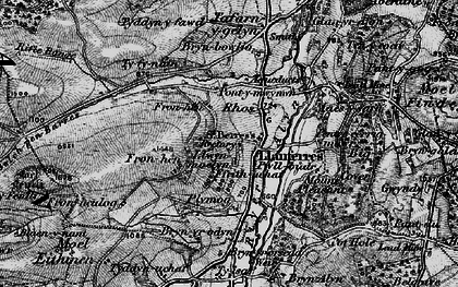 Old map of Llanferres in 1897