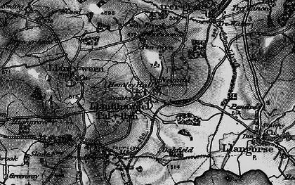 Old map of Afon Llynfi in 1896