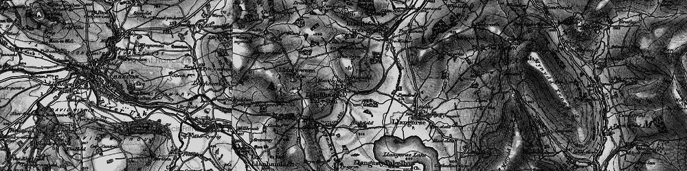 Old map of Afon Llynfi in 1896