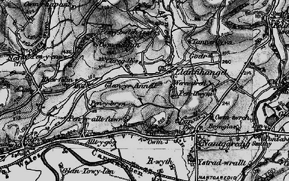 Old map of Afon Annell in 1898