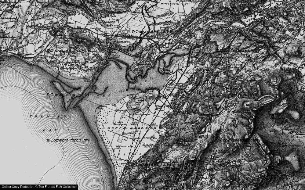 Old Map of Historic Map covering Afon y Glyn in 1899