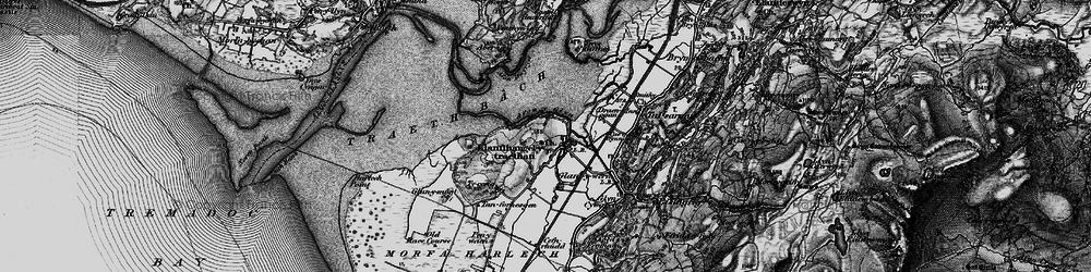 Old map of Afon y Glyn in 1899
