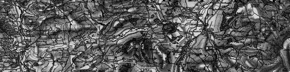 Old map of Allt Filo in 1896