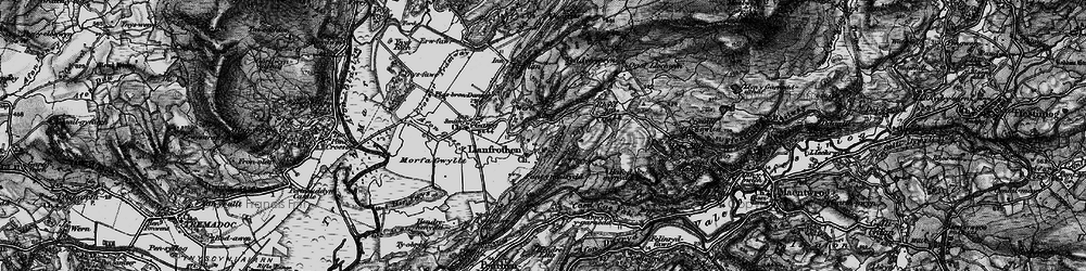 Old map of Llanfrothen in 1899