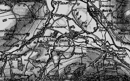Old map of Abercynrig Mill in 1898