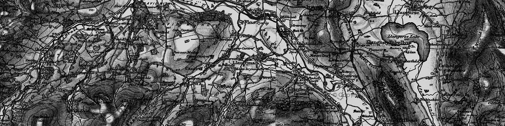 Old map of Afon Cynrig in 1898