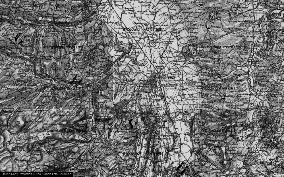 Old Map of Llanfwrog, 1897 in 1897