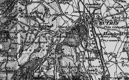 Old map of Llanfwrog in 1897