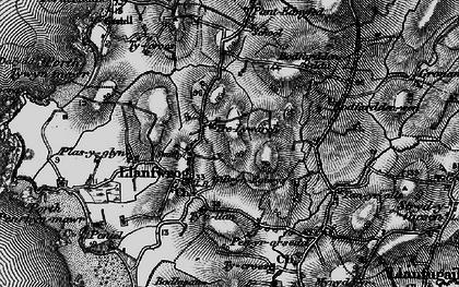 Old map of Llanfwrog in 1899