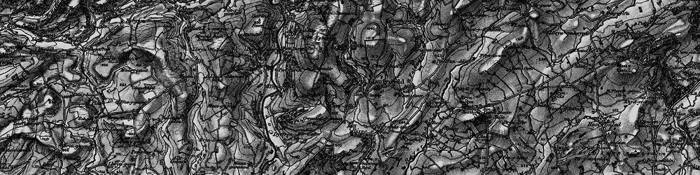 Old map of Afon Sannan in 1898