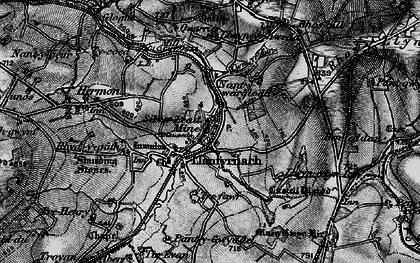 Old map of Afon Asen in 1898