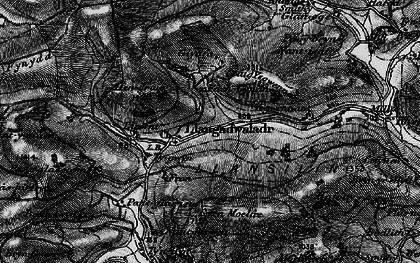 Old map of Ysgwennant in 1897