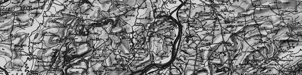 Old map of Ystradwalter in 1898