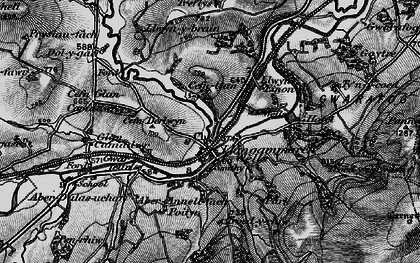 Old map of Llangammarch Wells in 1898