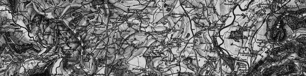 Old map of Langstone Court in 1896