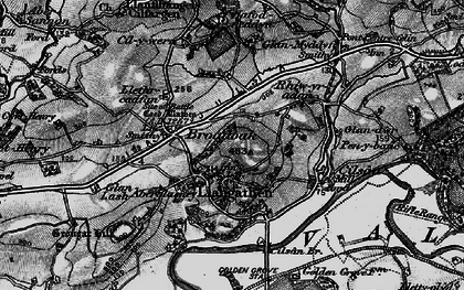 Old map of Aberglasney in 1898
