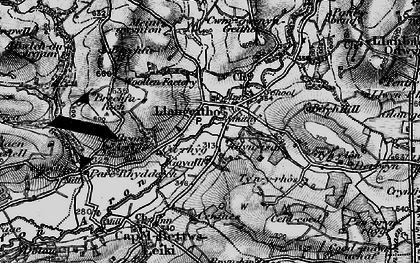 Old map of Aeron Dale in 1898