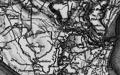 Old map of Barach in 1898