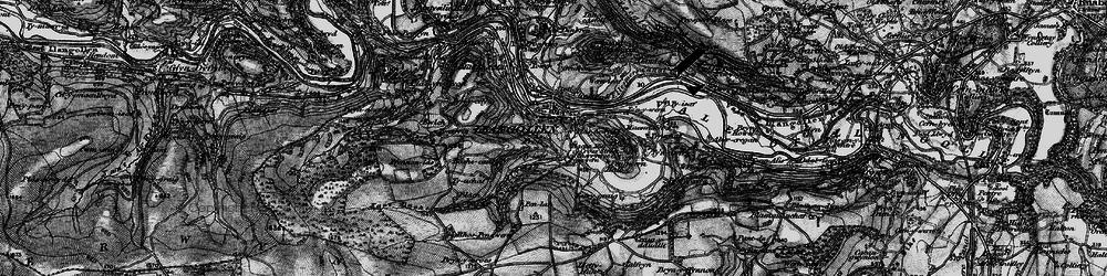 Old map of Llangollen in 1897