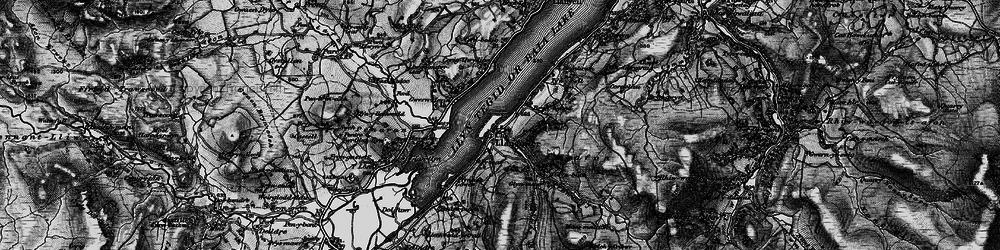 Old map of Afon Glyn in 1898