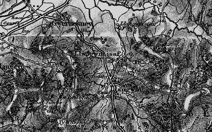 Old map of Llangwm in 1897