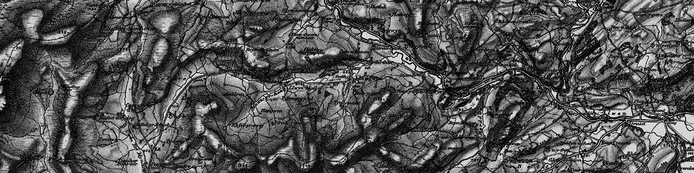 Old map of Aeddren in 1898