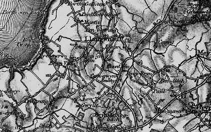 Old map of Llangwnnadl in 1898