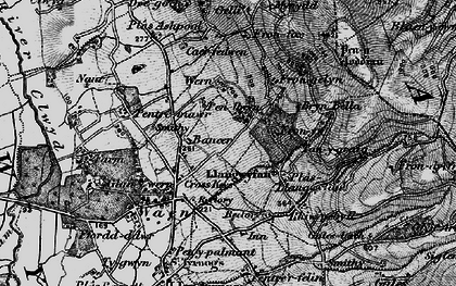 Old map of Bancar in 1896