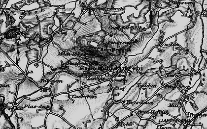 Old map of Ynys Creud in 1899