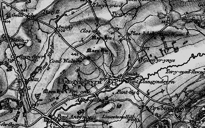 Old map of Alltycadno in 1898