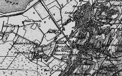 Old map of Llangynfelyn in 1899