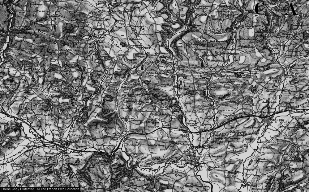 Old Map of Historic Map covering Afon Fenni in 1898