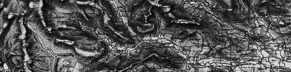 Old map of Afon Eirth in 1898