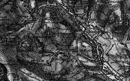 Old map of Llangynwyd in 1897