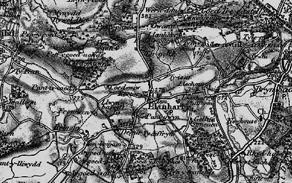 Old map of Llanharry in 1897