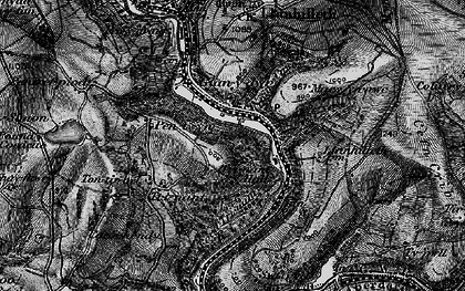Old map of Llanhilleth in 1897