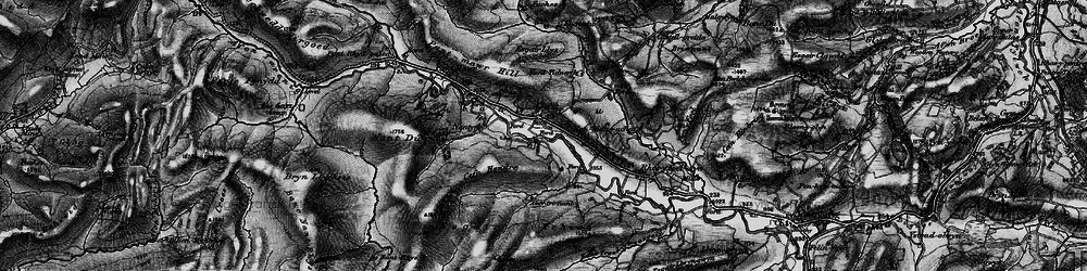 Old map of Afon Bidno in 1899