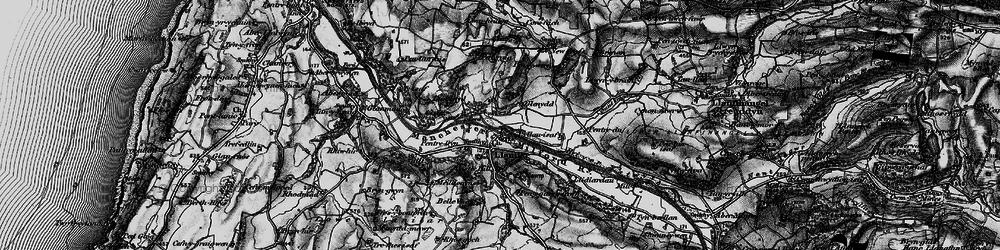 Old map of Llanilar in 1899