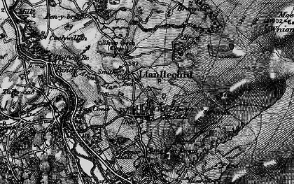 Old map of Afon Ogwen in 1899