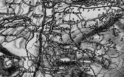 Old map of Llanllyfni in 1899