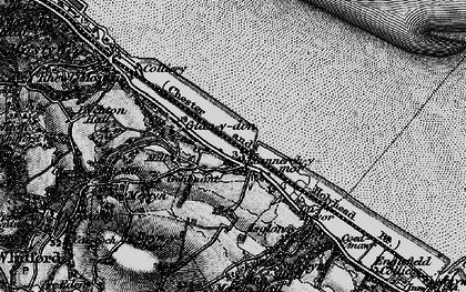 Old map of Llannerch-y-môr in 1896