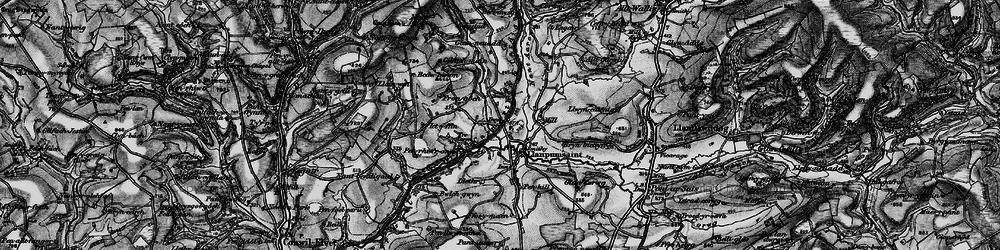 Old map of Alltgaredig in 1898