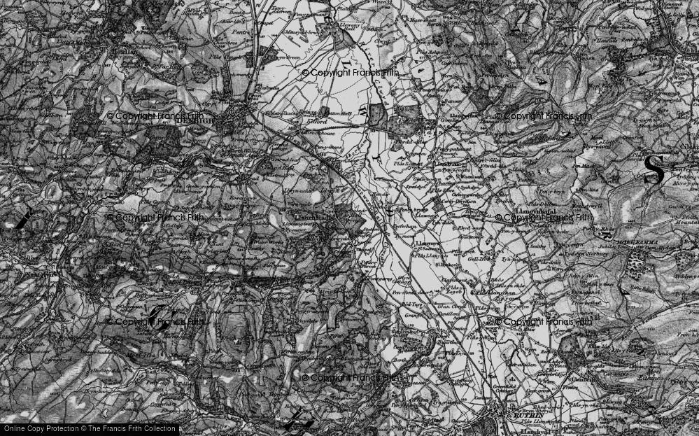 Old Map of Llanrhaeadr, 1897 in 1897