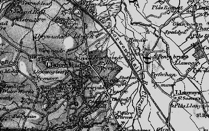 Old map of Llanrhaeadr in 1897