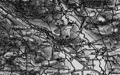 Old map of Afon Rhaeadr in 1897