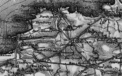 Old map of Llanrhian in 1898