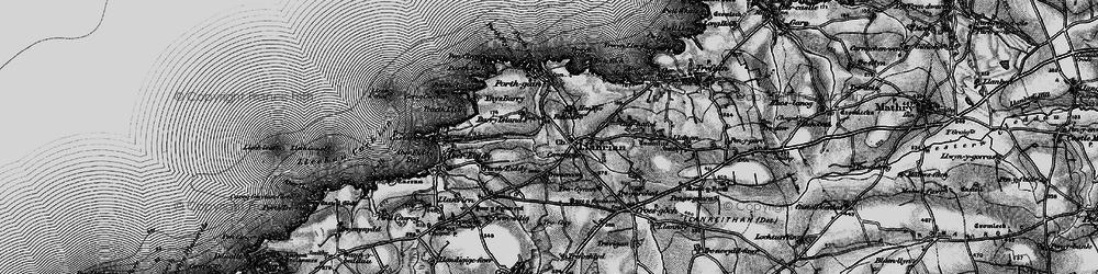 Old map of Llanrhian in 1898